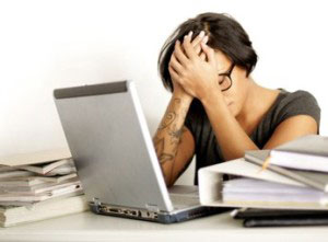 Mitarbeiter Chef Friseur Mobbing Ärger Stress Burnout