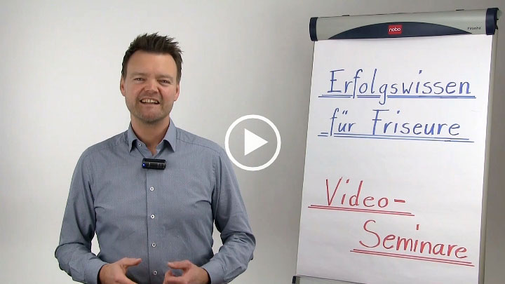 Friseur Seminar Marketing Werbung Video
