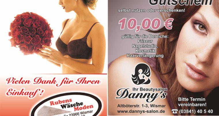 Gutschein Werbung Friseur